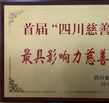 """""""我爱·我家""""荣获首届""""四川慈善奖"""" 最具影响力慈善项目"""