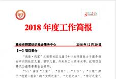 """""""我爱·我家""""之雅安社区儿童5+计划2018年度工作简报"""