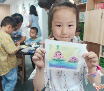 """青江路社区""""快乐星期天""""端午节主题和谐粉彩画活动"""
